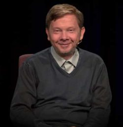 Eckhart Tolle enlightened spiritual teacher and author