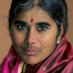 Mother Meera, an incarnation of the Divine Mother who gives darshans