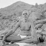 ramana maharshi sitting lotus on Arunachla Mountain